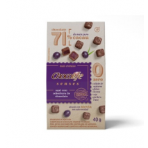 Drageado Açaí com Cobertura de Chocolife Senses 71% Cacau (40g) Chocolife - 50% OFF