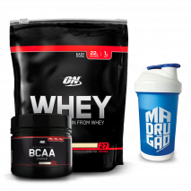 Kit Auxílio Ganho de Massa Muscular Black Line Optimum Nutrition