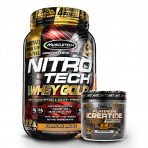 Nitro Tech 100% Whey Gold (999g) + Platinum 100% Creatina Micronized (400g) MuscleTech