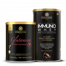 Immuno Whey (465g) + L-Glutamina (300g) Essential Nutrition