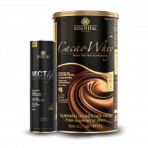 Cacao Whey (900g) Essential Nutrition + MCT Lift (250ml) Essential Nutrition